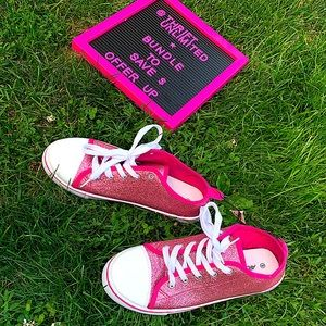 ARDENES sparkly pink converse like sneakers BNWT
